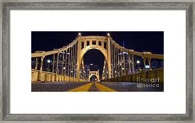 0304 Roberto Clemente Bridge Pittsburgh Framed Print by Steve Sturgill
