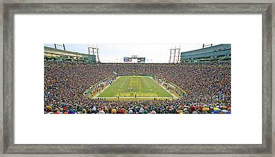 0349 Lambeau Field Panoramic Framed Print by Steve Sturgill