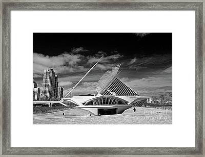 0352 Milwaukee Art Museum Infrared Framed Print