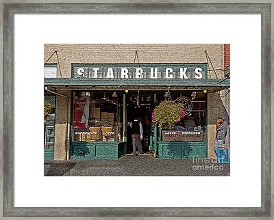 0370 First Starbucks Framed Print