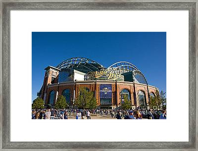 0386 Miller Park Milwaukee Framed Print