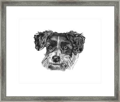 Framed Print featuring the drawing 040 - Blue by Abbey Noelle