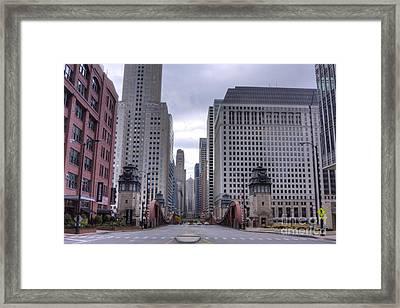 0500 Lasalle Street Bridge Chicago Framed Print by Steve Sturgill