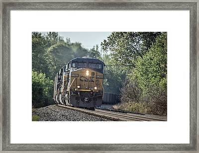 05.07.14 Csx Coal Train At Nortonville Ky Framed Print by Jim Pearson