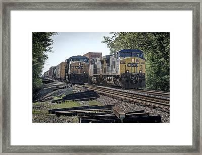 05.07.14 Csx Meet At Hopkinsville Ky Framed Print by Jim Pearson