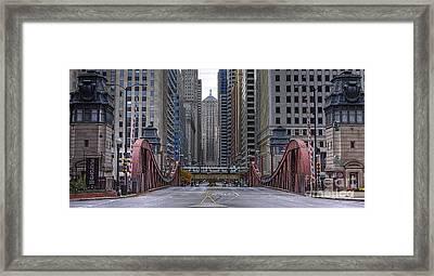 0524 Lasalle Street Bridge Chicago Framed Print by Steve Sturgill