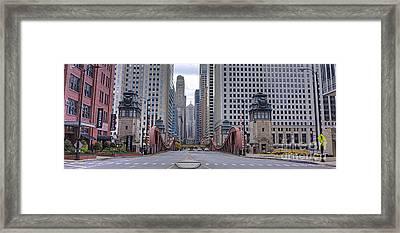 0525 Lasalle Street Bridge Chicago Framed Print by Steve Sturgill
