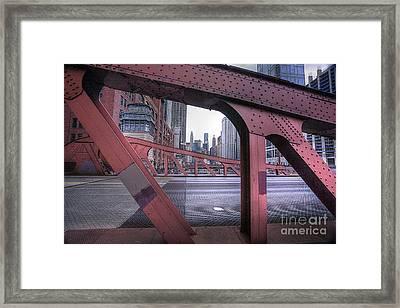 0528 Lasalle Street Bridge Chicago Framed Print by Steve Sturgill