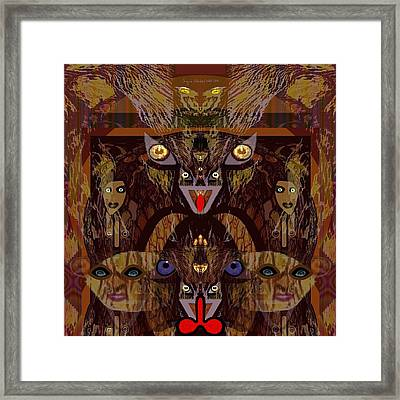 054 - Demons  Framed Print by Irmgard Schoendorf Welch