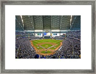 0545 Nlds Miller Park Milwaukee Framed Print by Steve Sturgill