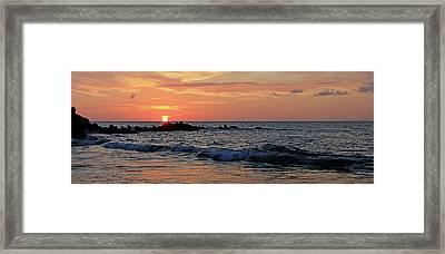 0581 Maui Sunset 2 Framed Print