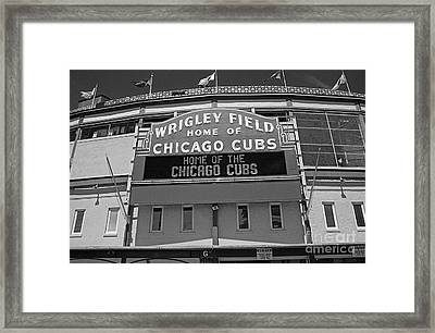 0600 Wrigley Field Framed Print