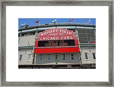0601 Wrigley Field Framed Print by Steve Sturgill