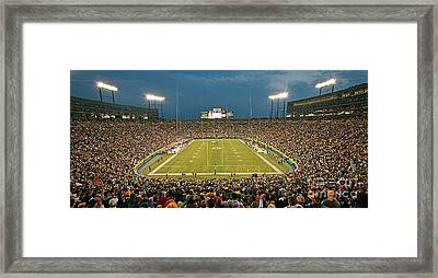 0614 Prime Time At Lambeau Field Framed Print