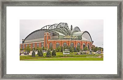 0621 Milwaukee's Miller Park Framed Print by Steve Sturgill