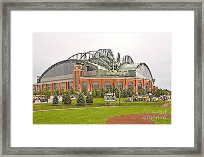 0622 Milwaukee's Miller Park Framed Print by Steve Sturgill