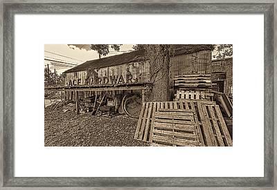 0653-155-bw Framed Print