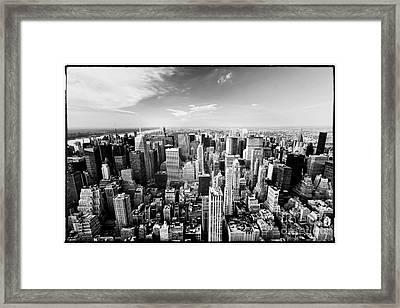 0655 New York City Black And White Framed Print by Steve Sturgill