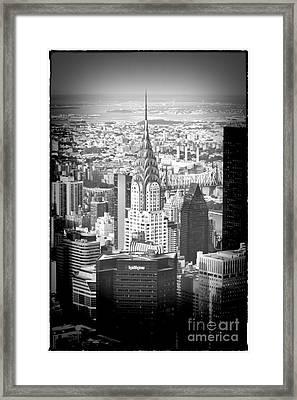 0656 Chrysler Building New York Framed Print by Steve Sturgill