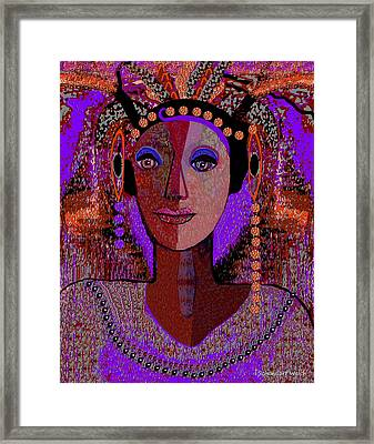072 -  Exotic  Lady Violet   Framed Print by Irmgard Schoendorf Welch