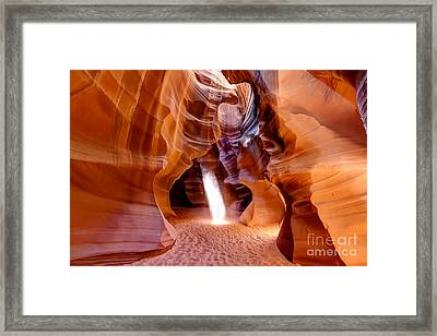 0728 Upper Antelope Canyon - Arizona Framed Print