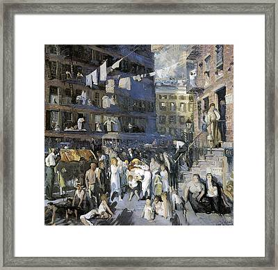 Cliff Dwellers New York City Framed Print by George Wesley Bellows