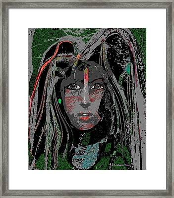 080 - Slowly Fading Away   Framed Print by Irmgard Schoendorf Welch