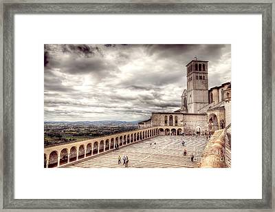 0800 Assisi Italy Framed Print by Steve Sturgill