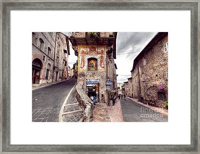 0801 Assisi Italy Framed Print by Steve Sturgill