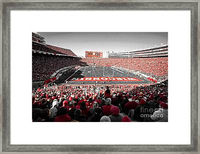 0811 Camp Randall Stadium Framed Print