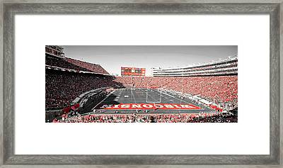 0813 Camp Randall Stadium Panorama Framed Print