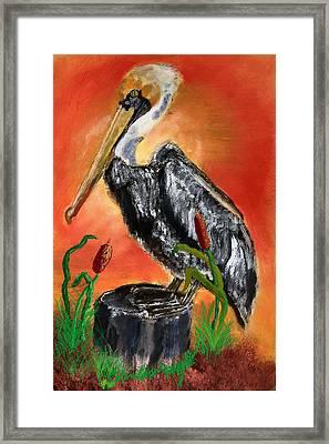 082914 Pelican Louisiana Pride Framed Print