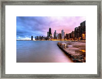 0865 Chicago Sunrise Framed Print
