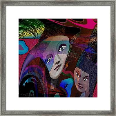 089 - Flippy Mother And Child  Framed Print