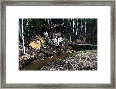 090814 Alaskan Gold Miner Framed Print