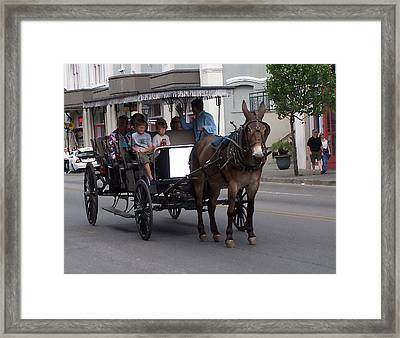 091114 Digital Dry Brush  New Orleans Carriages Framed Print