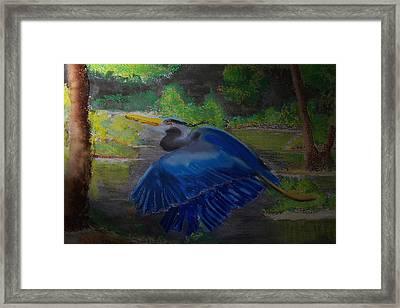 091714 Dawn In The Marsh Framed Print