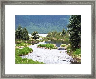 092014 Water Color Alaskan Wilderness Framed Print