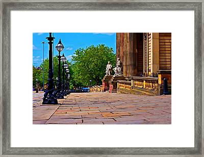 A Digitally Converted Painting Of William Brown St Liverpool Framed Print by Ken Biggs