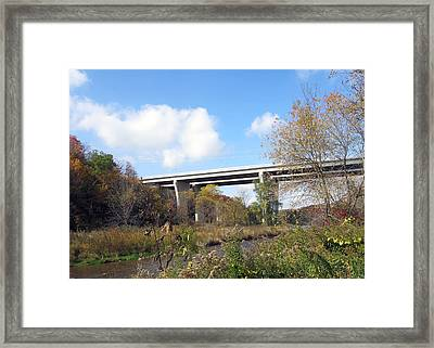 Bridge Wild Fall Colors Trees Skyview Sky Bluesky  Decorations Deco Artistic By Navinjoshi          Framed Print