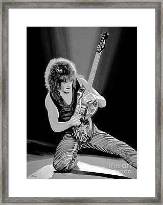 Eddie Van Halen Framed Print by Meijering Manupix