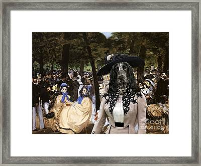 English Cocker Spaniel Art Canvas Print Framed Print by Sandra Sij