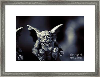 Evil Gargoyle Statue Framed Print by Jorgo Photography - Wall Art Gallery