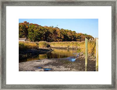 Fall Foliage At Nissequogue River Framed Print