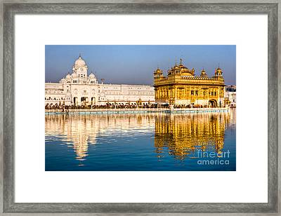 Golden Temple In Amritsar - Punjab - India Framed Print by Luciano Mortula