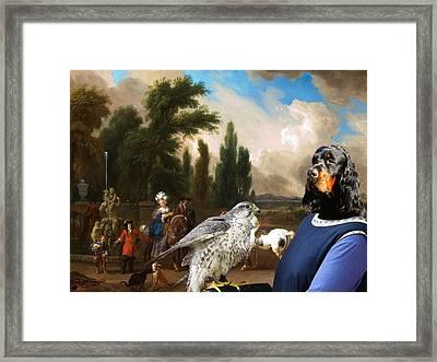 Gordon Setter Art Canvas Print Framed Print