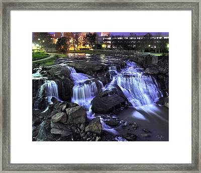 Reedy River Falls Framed Print