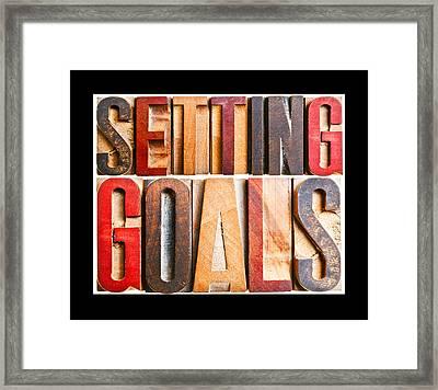 Setting Goals Framed Print