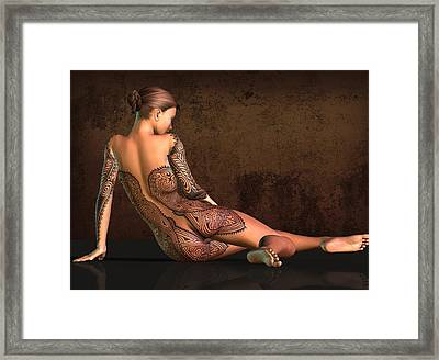Tattooed Nude 4 Framed Print