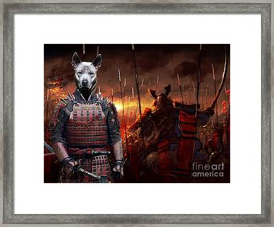 Thai Ridgeback Art Canvas Print Framed Print by Sandra Sij